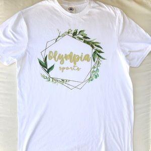 3/$25 Olympia Sports Olive Wreath T-Shirt NWOT